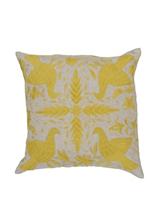 Surya Patterned Throw Pillow (Celery)
