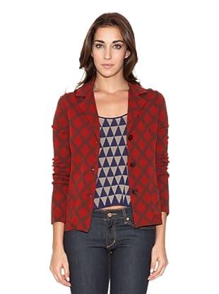SIYU Chaqueta Knit Rombos (Rojo/Granate)