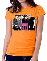 Offical One Direction-T-Shirt-Women-Orange
