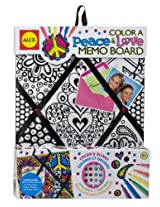 ALEX Toys - Color a Bag and Accessories! Color A Memo Board, Peace and Love, 108C