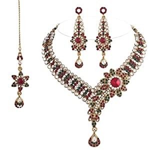 Jewels Ethnic Collection Gold Plated Alloy Elegantly Hand Crafted Kundan Sets for Women from Jewels