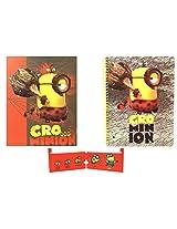 Cro Minion Spiral Notebook and 2-pocket Folder Bundle