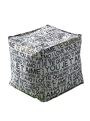 Contemporary Living Pouf I Love U