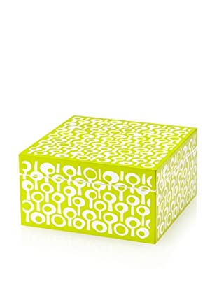 Wolf Designs 1970's Collection Lacquer Jewelry Box, Medium (Groovy Green)