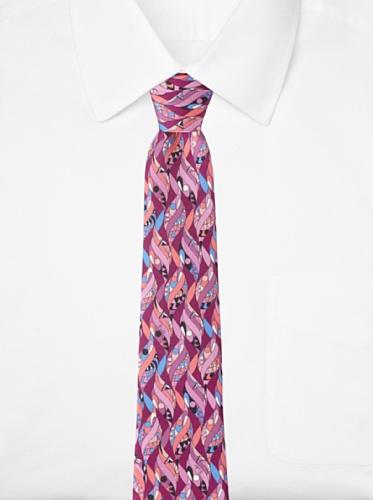 Emilio Pucci Men's Twirl Tie, Magenta/Pink