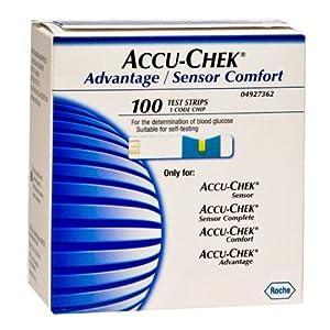 Accu-Chek Advantage/ Sensor Comfort Test Strips, 100 Strips