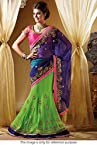Bollywood Replica Model Net Lehenga Saree In Blue and Green Colour NC691