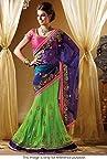Bollywood Replica Model Net Lehenga Saree In Blue and Green Colour NC691