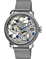 "Akribos XXIV Men's AK526SS ""Bravura"" Stainless Steel Mesh Mechanical Bracelet Watch"