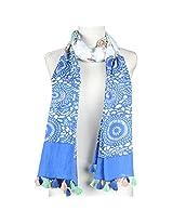 Vozaf Women's Cotton Stoles & Scarves - Blue