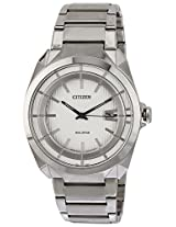 Citizen Eco-Drive Analog White Dial Men's Watch - AW1010-57B