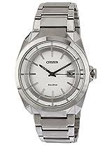 Citizen Eco-Drive Analog White Dial Men's Watch - AW1010-57B