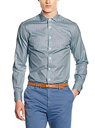 Hackett London Hemd Royal Twill Check