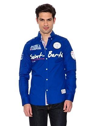 Geographical Norway Camisa Manga Larga Zappy (Azul Royal)