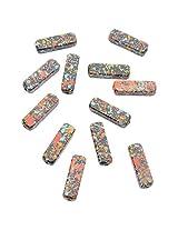 Foppish Mart Splash Printed Rectangular Multicolored Beads
