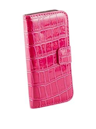 Beja Carcasa de protección Rosa para iPhone 4/4S PU aspecto Cocodrilo