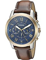 Fossil Grant Analog Blue Dial Men's Watch - FS5150