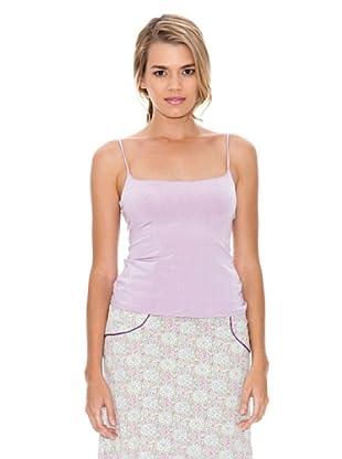 Monoplaza Camiseta Top (Rosa Claro)