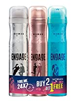 Engage Combo Pack Deo Sprays, Spell and Drizzle with Free O'whiff Deo Spray