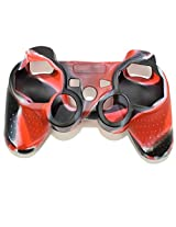 Stong Silicon Protective Case Cover For Sony Playstation Ps3 Wireless Remote Controller Red + Black