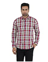 London Fog Men's Casual Shirt (8907174016665_Red_X-Large)