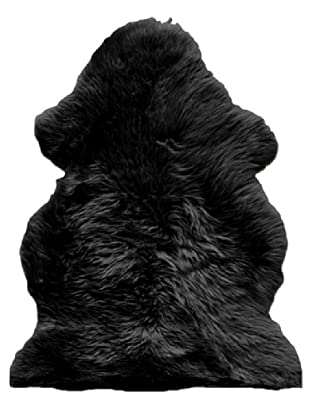 Natural Brand New Zealand Sheepskin Single Rug, Black, 2' x 3'