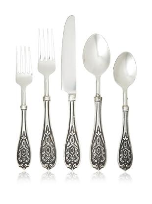 Wallace 20-Piece Brass-Handle Ashleigh Flatware Set, Silver