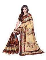 Sangam Brasso & Georgette Half Work Sari