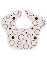 Terry/Waterproof Bib Newborn Pink Crazy Bubbles Size , Newborn