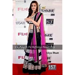 Bollywood Villa Aliya Bhatt Lehenga Pink & Black