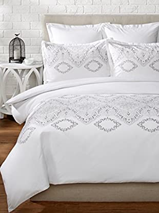 Mélange Home Brocade Embroidered Duvet Set