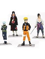 Japanese Anime Naruto Figures Collection Figurines 4pc Set , Kakashi Uzumaki Naruto Sasuke