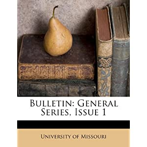 Bulletin: General Series, Issue 1