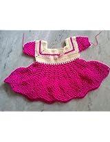 Handmade Baby Booties Crochet Frock For Baby
