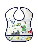 BABY BUCKET Luvable Friends Waterproof Feeder Bib with Crumb Catcher Pocket (SUPER HERO)