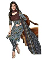 JAVULI pure cotton salwar suit dress material : komal-4657
