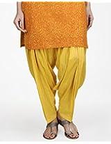 Cotton Mull Patiala-l-yellow