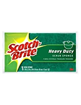 Scotch-Brite Scrub Sponge, Heavy Duty, 1-Count (Pack of 6)