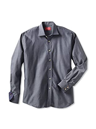 Rufus Men's Patterned Button-Up Shirt (Black)