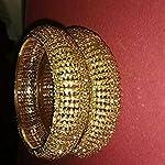 Gold Yellow Gold Fashion Bangle Set of 2