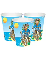 Themez Only Paper Cups - Pirate, Multi Color