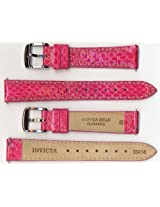 Invicta Genuine Unisex 16mm Hot Pink Copper Head Snakeskin Leather Watch Strap IS418
