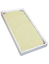 Kushies Change Pad Fitted Sheet, Yellow Dots