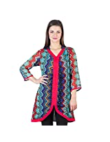 Ayaany Printed Multi Polyester Casual KURTI for Women