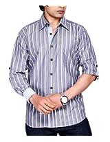 Moksh Men's Striped Casual Shirt V2IMS0414-23 (Medium)