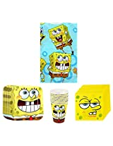 SpongeBob SquarePants Birthday Party Supplies Pack Bundle Kit Including Plates, Cups, Napkins and Ta