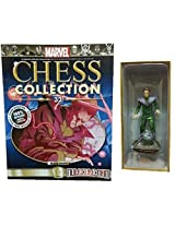 Marvel Chess Figurine Collection #32 Molecule Man Black Pawn with Magazine
