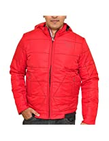 Stylish Duke Men Winter Solid Red Jacket By ReturnfavorsXL