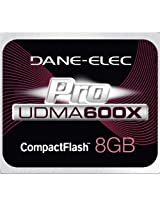 DANE ELECTRONICS Pro High Speed CF 8GB Memory Card (DA-CF6008G