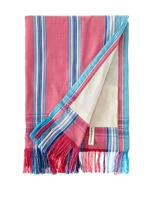 Nomadic Thread Society Fringed Surf Sarong Towel (Pink/Blue/White)